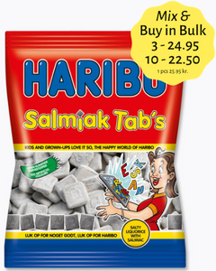 Salmiak Tab's - salty liquorice with salmiac