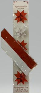 Julestjerne papir-strimler til 12 stjerner white and red - very traditional Danish Christmas