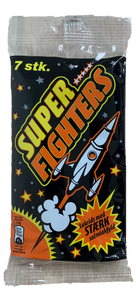 Super Fighters 7pk - strong liquorice with salmiac