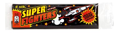 Super Fighters 4pk - strong liquorice with salmiac