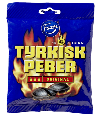 Tyrkisk Peber - hot liquorice-filling-taste inside the hardboiled candy