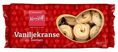 Vaniljekranse Smørbagte - Danish cookies - Best before date 23 April 2020