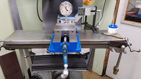 "Speed Torq Handle™ - MIll Vise Wrench pressure check on 6"" Kurt vise- CMI Creations"