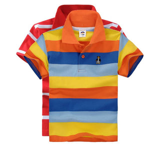 boys t shirt  summer striped cotton short sleeve