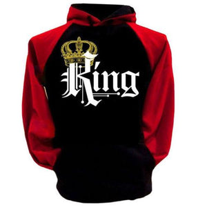 Buy CoolShirts Crewneck Black and Red King Hoodie Sweatshirt