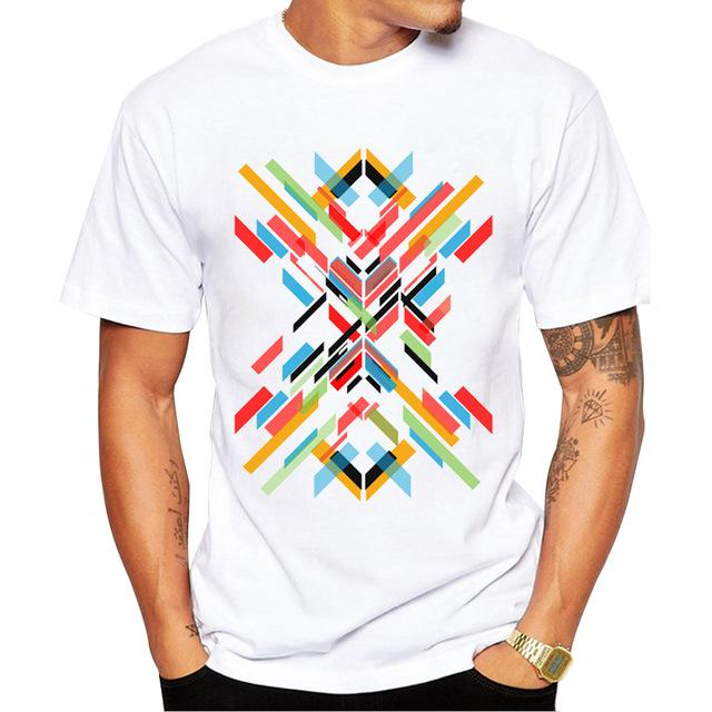Buy CoolShirts Retro Fashion T-Shirt Short Sleeve Fractal Pattern for Men