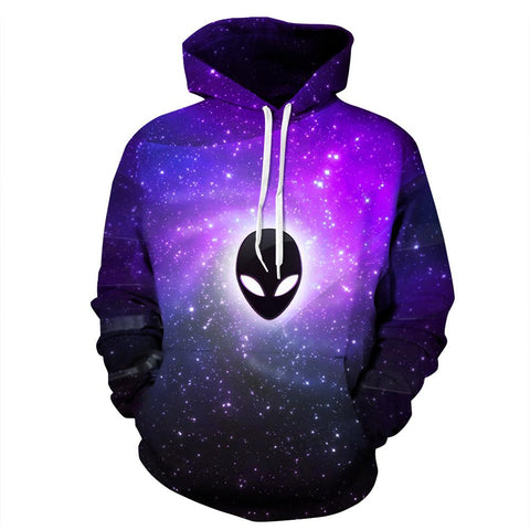 Buy CoolShirts Purple Alien Unisex Hoodie Sweatshirt