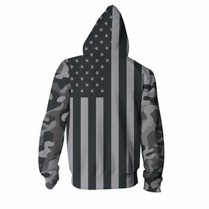 Buy CoolShirts Stylish American Flag Hoodie Sweatshirt