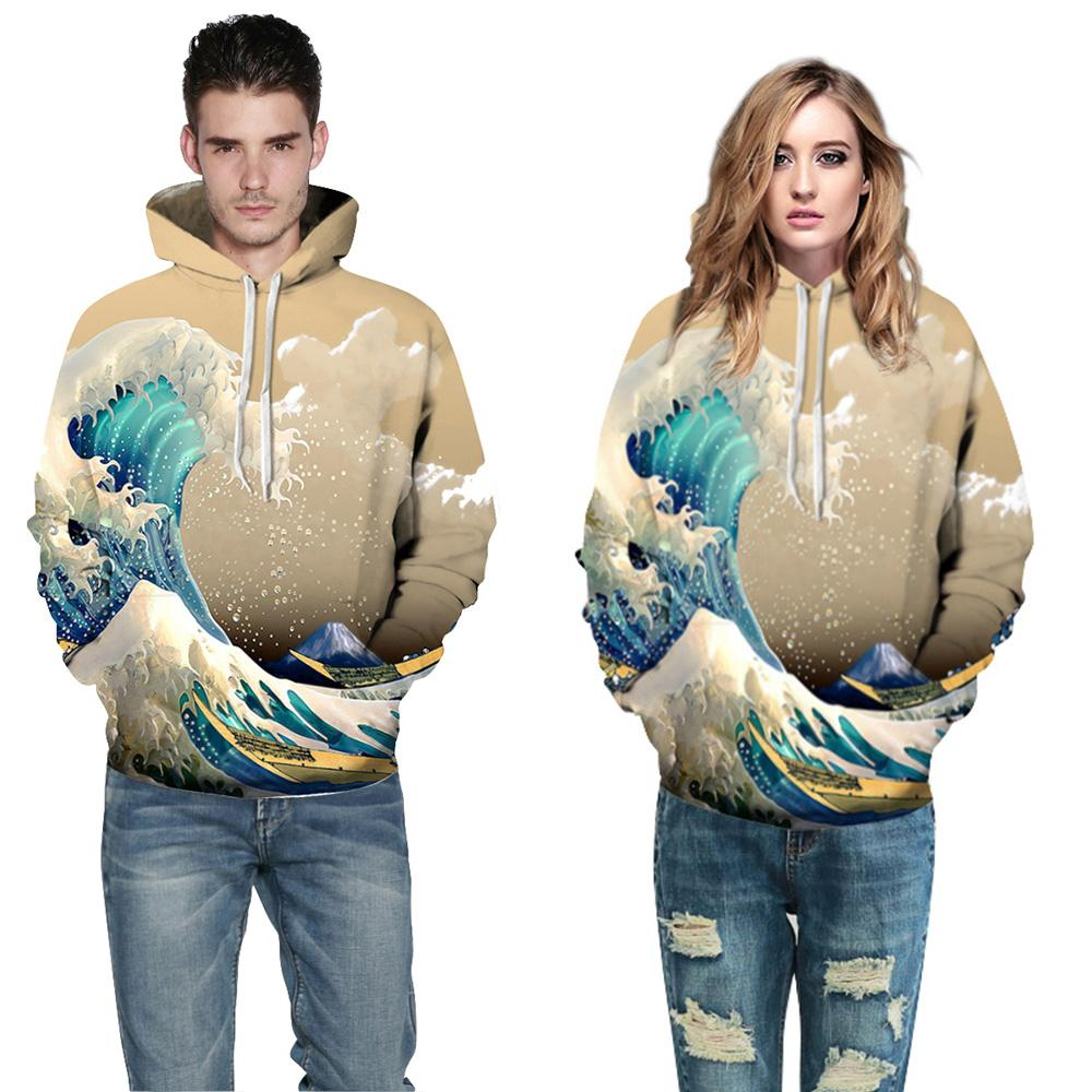 Buy CoolShirts Coffee Wave Design Pullover Unisex Hoodie / Sweatshirt