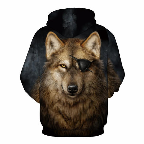Buy CoolShirts Pirate Wolf Pullover Unisex Hoodie / Sweatshirt