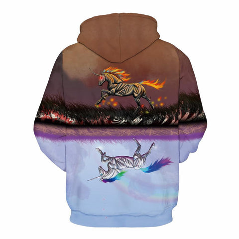 Buy CoolShirts Unicorn Design Colorful Unisex Hoodie / Sweatshirt