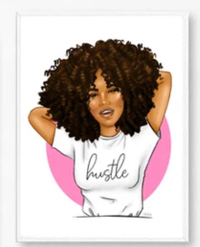 Beautiful Black Girl Canvas