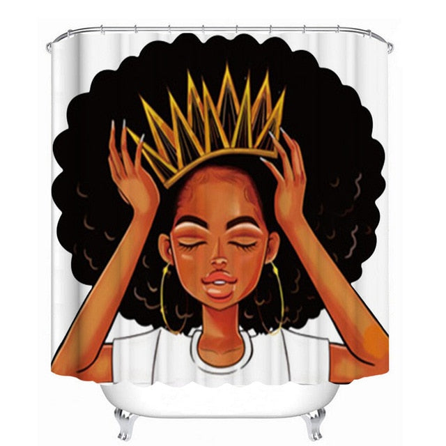 African American Women with Crown Bathroom Set