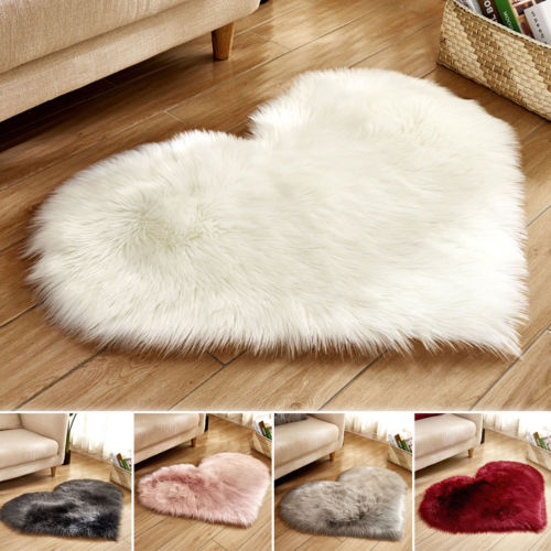 Anti-Skid  Heart Fluffy Rugs