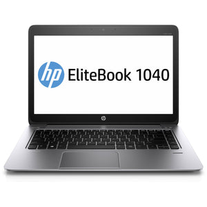 "HP EliteBook Folio 1040 G2 Laptop - 5th Gen Intel Core i5-5200U 8GB RAM 128GB SSD WebCam 14.0"" Win 10 Pro"
