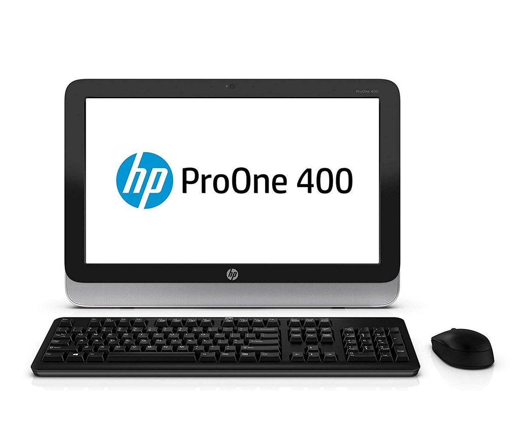 "HP AiO ProOne 400 G1 All-in-One - 4th Gen Intel Core i5-4570T 2.9GHz, 8GB RAM, 500GB HDD, LED 20"" 1600x900 (HD+) Resolution, WiFi, DVD-RW, Webcam, Windows 10 Pro 64-Bit, USB Keyboard/Mouse"