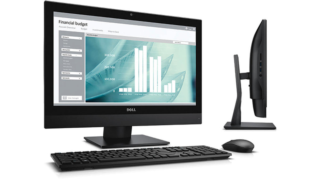 "DELL All-in-One OptiPlex 7440 23.8"" FHD AIO Computer Intel Core i7-6700 8GB RAM 500GB SSHD Win 10 Pro USB Keyboard & Mouse - Coretek Computers"