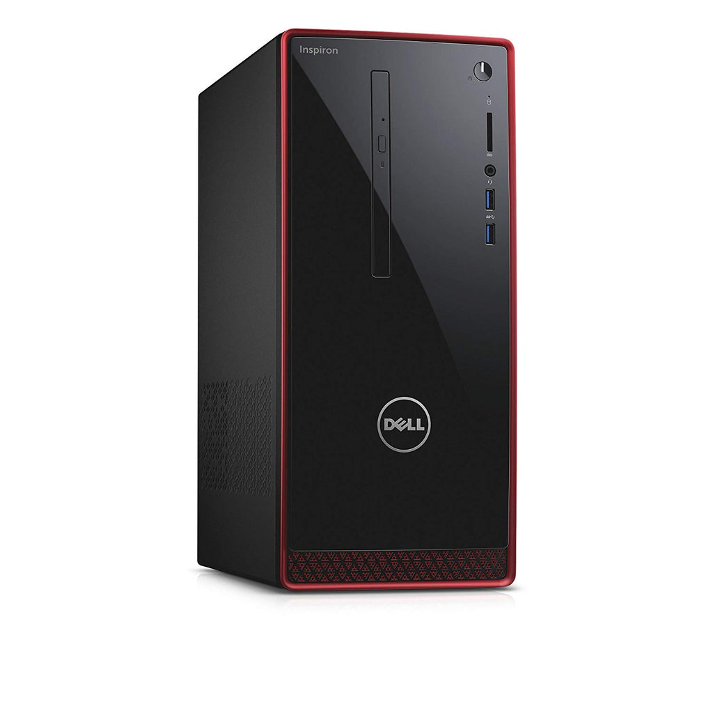 Dell Inspiron 3656 Mini-Tower - AMD A10-8700P 1.8GHz Processor (upto 3.2GHz), 8GB Memory, 240GB SSD, DVD Rom, 802.11 b/g/n WiFi, BT 4.0, Windows 10 Professional, Keyboard & Mouse - Coretek Computers