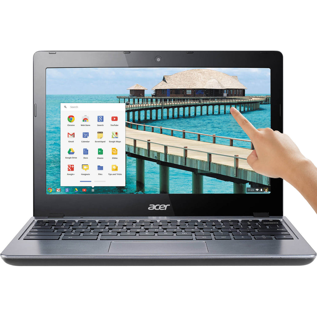 "Acer C720P-2625 11.6"" Touch LED Chromebook Intel Celeron Dual Core 4GB 16GB SSD"