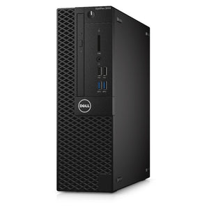 DELL 3050 SFF Desktop Computer - 3.70GHz 6th Gen Intel Core i3-6100, 8GB RAM, NEW 240GB SSD, Intel HD Graphics 530, Windows 10 Pro 64-bit, Keyboard & Mouse - Coretek Computers