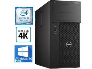 Dell Precision T3620 Workstation - Intel i7-7700 Quad Core upto 4.2GHz, USB 3.1, 4K HDMI, Display Port, Windows 10 Pro 64-bit, Keyboard & Mouse - Coretek Computers