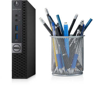 Dell Optiplex 3040 USFF Micro Desktop - 6th gen Intel Core i5-6600 3.30GHz 8GB RAM Win 10 Pro - Coretek Computers