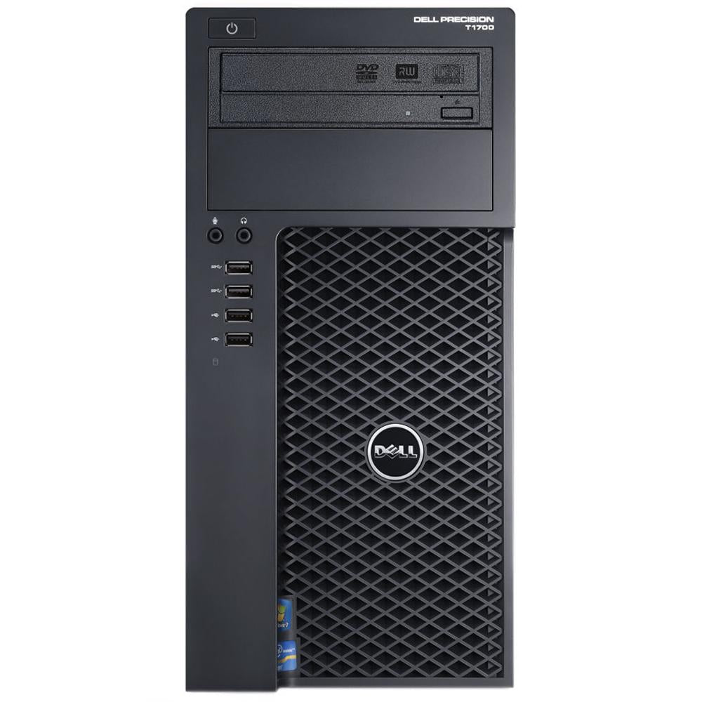 Dell Precision T1700 WorkStation - Intel Core i5-4590 Quad 3.30GHz, 8GB Ram, NEW 240GB SSD, WIFI, DVDRW, Windows 10 Pro 64 bit, Keyboard/Mouse