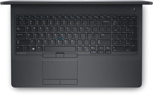 "Dell Latitude E5570 15.6"" HD Business Laptop - 6th Gen Intel-Core i5-6300U 8GB DDR4 240GB SSD WebCam BT Win 10 Pro - Coretek Computers"