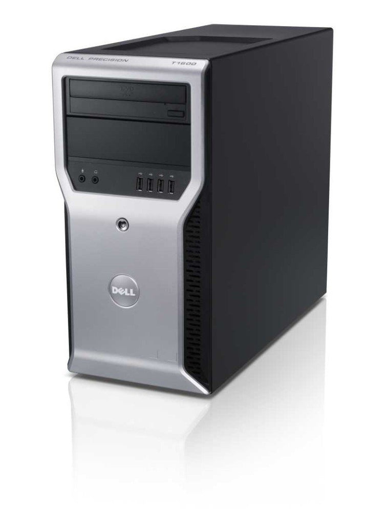 Dell Precision T1600 Workstation - Intel Xeon 3.1GHz Quad Core Processor E3-1225 (up to 3.4GHz), 8GB DDR3, 120GB SSD + 500GB HDD, DVD, Intel HD Graphics P3000, Windows