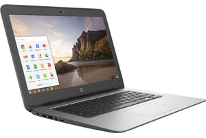 "HP 14 G4 Chromebook - Intel Celeron N2840 2.16 GHz, 2GB RAM, 16GB eMMC SSD, WebCam, Intel 802.11 a/b/g/n +BT 4.0, 14.0"" 1366x768, Chrome OS"