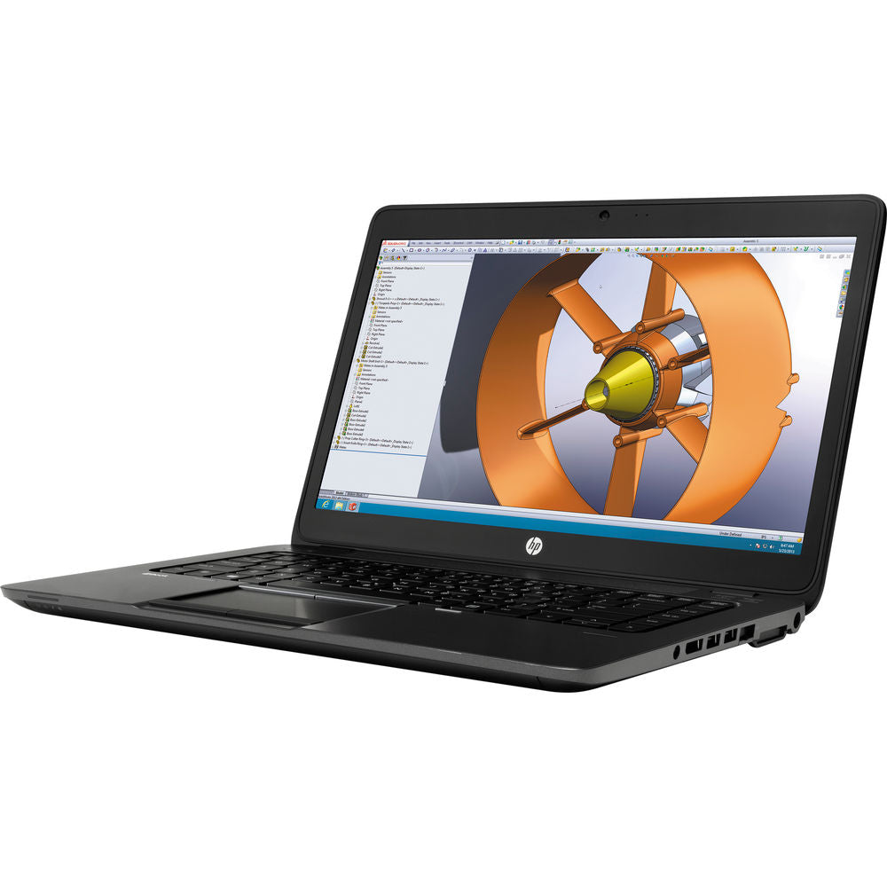 "HP ZBook 14.0"" FHD Mobile Workstation - Intel Core i7-4600U, 16GB RAM, 240GB SSD, AMD FirePro M4100 1GB Video, WebCam, Win 10 Pro - Coretek Computers"