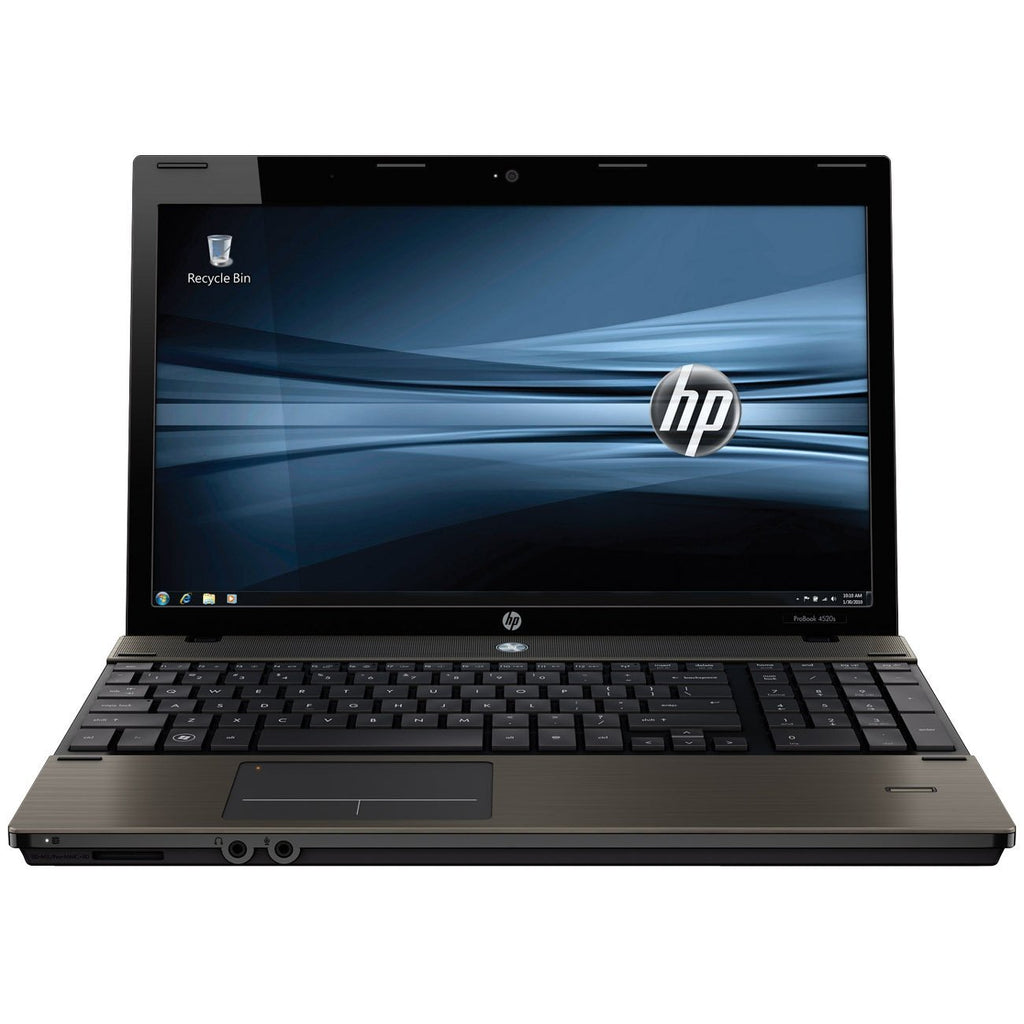 "HP ProBook 4520S 15.6"" Laptop, Intel Core i3 2.53GHz / 4GB RAM / 320GB HDD / Webcam / Windows 10 Pro - Coretek Computers"