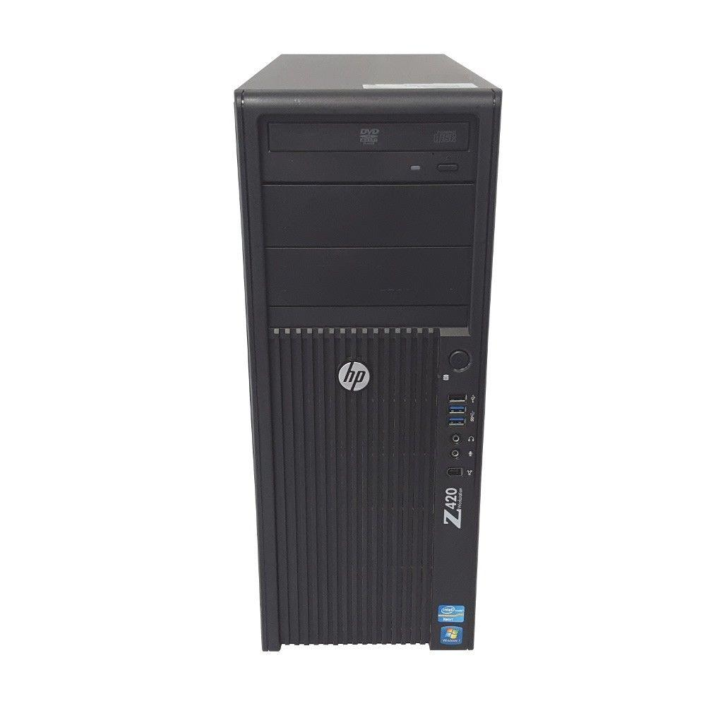 HP Z420 Workstation - Xeon E5-1607 3.00GHz Quad, 16GB RAM, Firepro W2100 2GB, Windows 10 Pro, Keyboard & Mouse - Coretek Computers