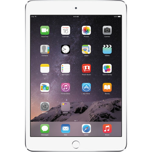 Apple iPad mini 3 Wi-Fi 64GB - Silver/White MGGT2LL/A A1599
