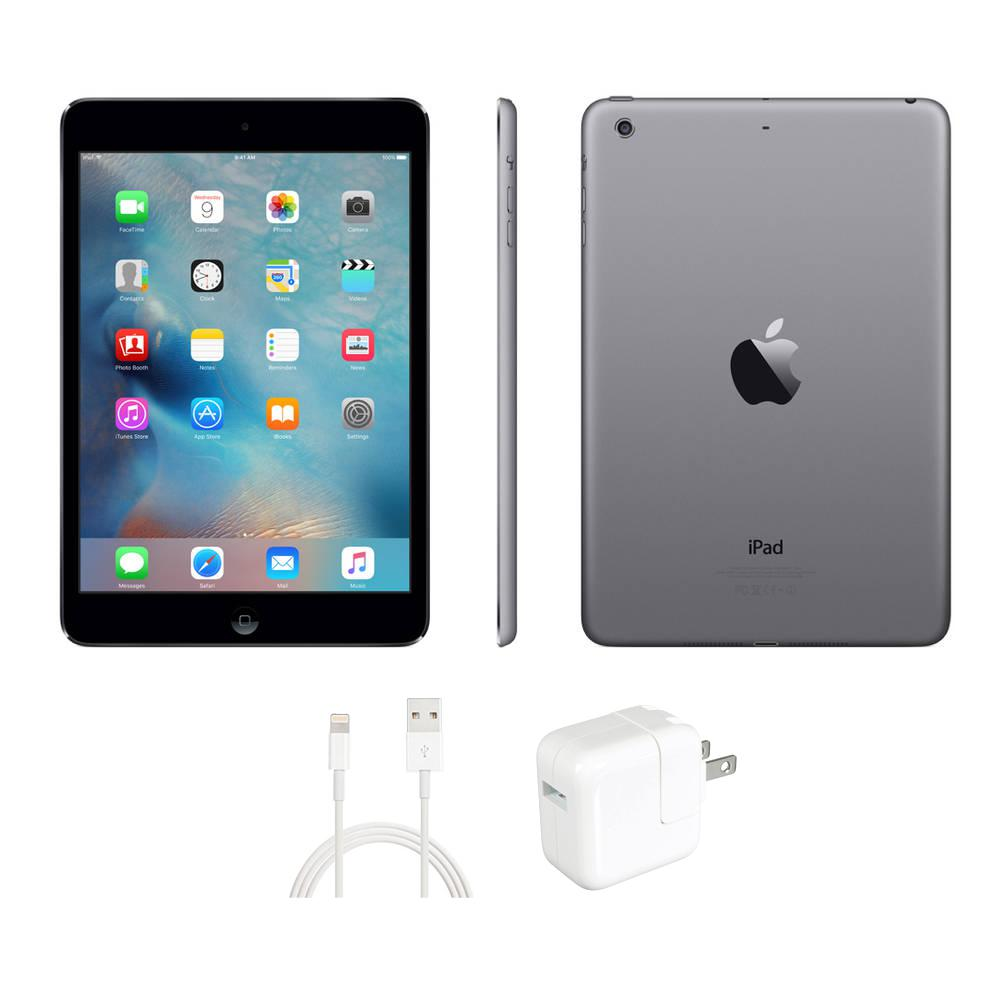 Apple iPad Mini 2 (32 GB, Wi-Fi, iOS 12, Space Grey) ME277LL/A A1489
