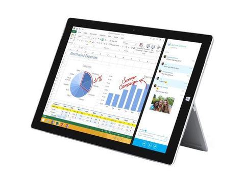 "Microsoft Surface Pro 3 Tablet - Intel Core i5-4300U, 4GB Ram, 128GB SSD, 12"" Touchscreen, Win 10 Pro - Coretek Computers"