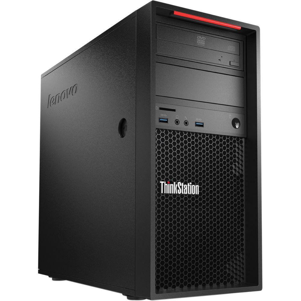 Lenovo ThinkStation P300 MT Workstation - Xeon E3-1226 v3 3.3GHz 4-Cores, 8GB DDR3, 240GB SSD + 1TB HDD, nVidia Quadro K600, DVDRW, Windows 10 Pro, Keyboard & Mouse - Coretek Computers