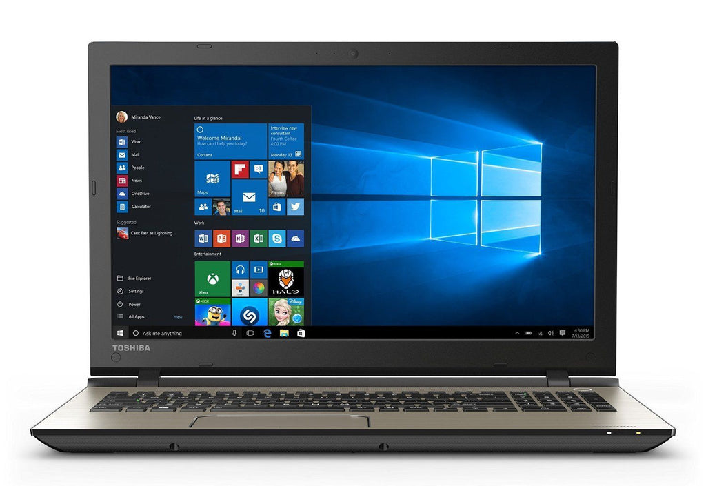 "Toshiba Satellite S55 15.6"" Laptop-  Intel I7-5500U (Upto 3.0GHz), 16GB RAM, 480GB SSD, Webcam, Win 10 Pro"