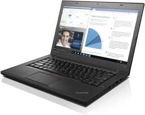 "Lenovo ThinkPad T460 Laptop - 6th Gen Intel Core i5-6300U (upto 3.00 GHz) 16GB RAM 256GB SSD 14.0"" FHD WebCam Win 10 Pro"