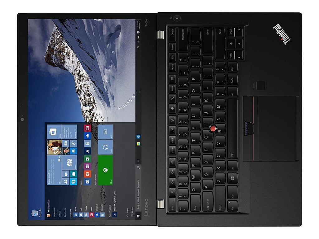 "Lenovo ThinkPad T460s 14"" FHD IPS TouchScreen Ultrabook - Intel Core i7-6600U 2.60GHz Upto 3.40GHz, 20GB DDR4, 256GB SSD, HDMI, 4-in-1 Card Reader, Fingerprint Reader, Wifi, Bluetooth, Win 10 Pro"
