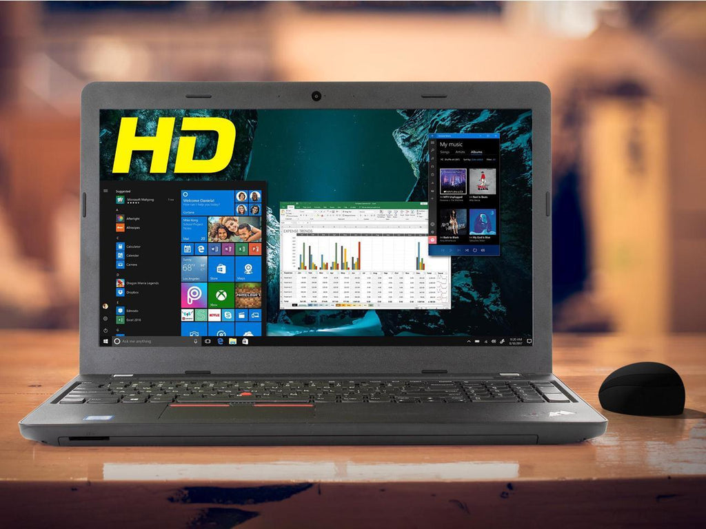 "Lenovo ThinkPad E570 15.6"" FHD Laptop - Intel Core i5-6200U 16GB RAM 256GB SSD WebCam Win 10 Pro"