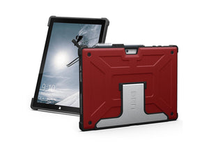 NEW UAG Microsoft Surface Pro (2017) & Surface Pro 4 Feather-Light Rugged [MAGMA] Aluminum Stand Military Drop Tested Case - Red