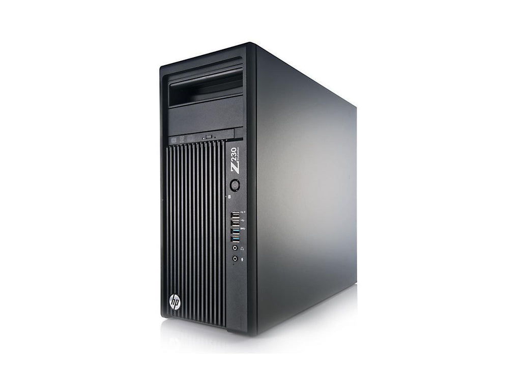 HP Z230 MT Workstation - 3.4GHz Core i7-4770 Quad, 16GB RAM, NEW 120GB SSD + 1TB HDD, NVIDIA Quadro K600 1GB (DVI+DP) + Intel HD 4600 (2x DP + 1x DVI), USB 3.0, WIFI, Win 10 Pro x64, Keyboard/Mouse