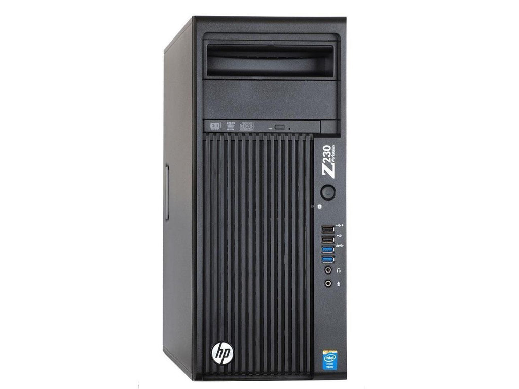 HP Z230 MT Workstation - 3.4GHz Core i7-4770 Quad, 16GB RAM, NEW 120GB SSD + 1TB HDD, NVIDIA Quadro K600 1GB (DVI+DP) + Intel HD 4600 (2x DP + 1x DVI), USB 3.0, WIFI, Win 10 Pro x64, Keyboard/Mouse - Coretek Computers