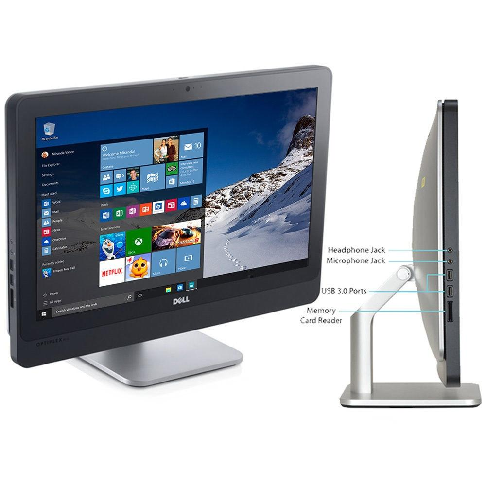 "DELL All-in-One Computer 9010 LED 23"" AIO - Intel Core i5-3470S 2.9GHz 8GB RAM 500GB HDD Win 10 Pro"