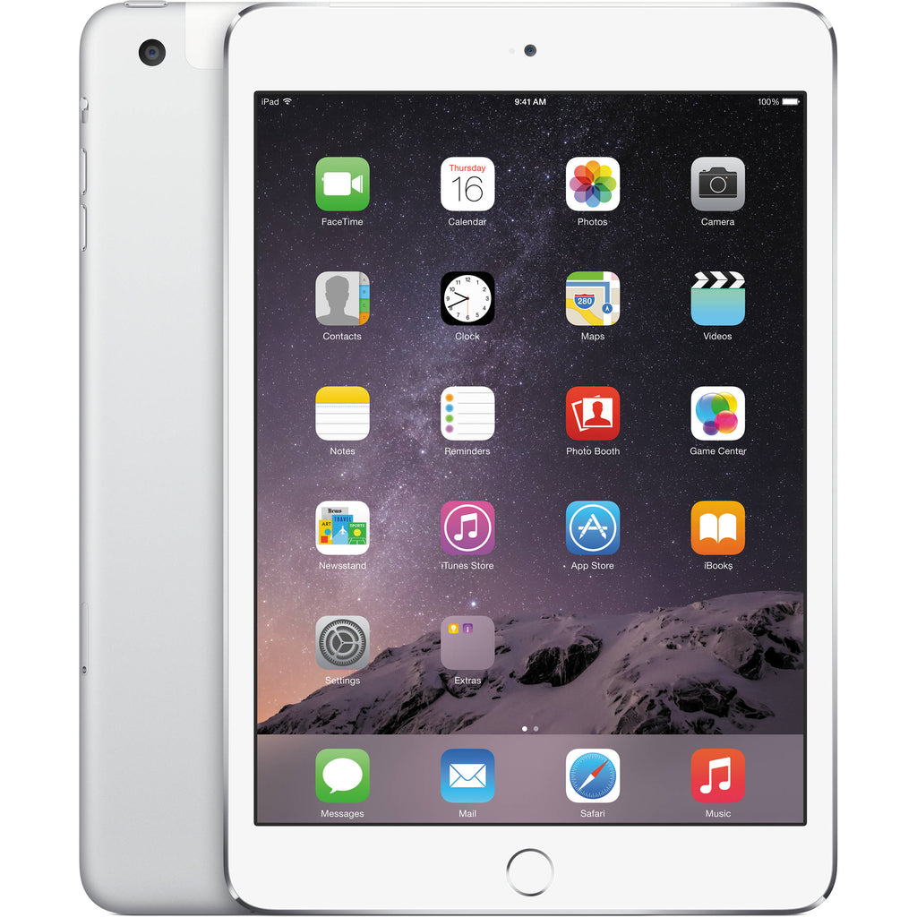 "Apple iPad Mini 3 64GB (Wi-Fi/Cellular) 7.9"" - Silver MH382LL/A A1600 - Coretek Computers"