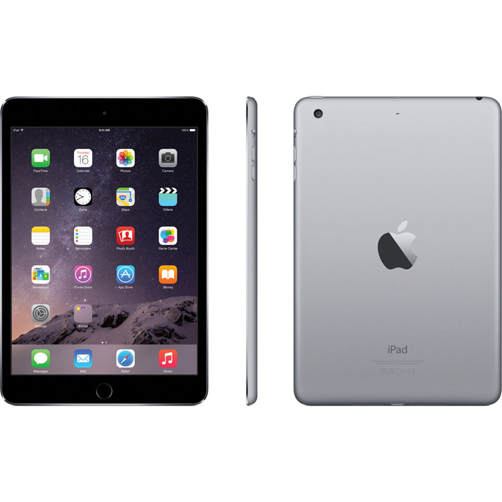 Apple iPad mini 3 Wi-Fi 16GB - Space Gray MGNR2LL/A A1599 - Coretek Computers