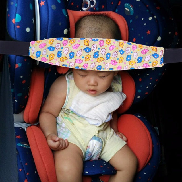 Baby Car Seat Stroller Head Support Band