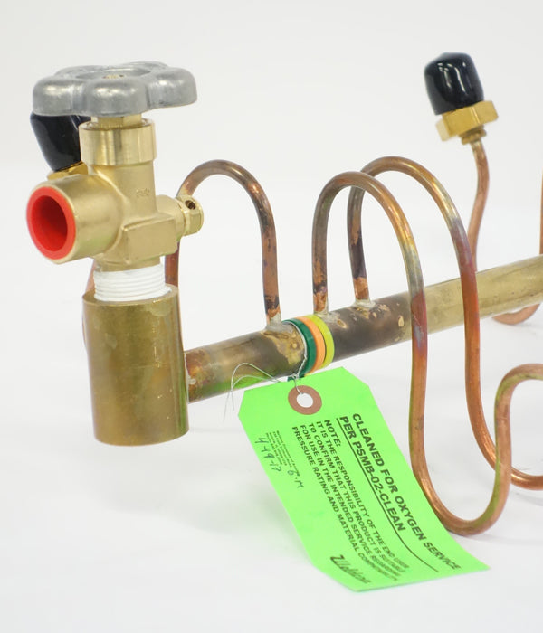 6 Cylinder Manifold Assemblies with a Brass Header and Rigid Copper Leads specifically for LowPro Series Gas Packs