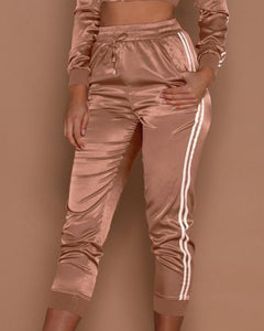 Monica Satin Tracksuit Joggers | BlissBabe